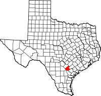 Small map of Karnes county