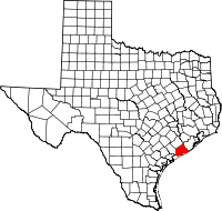 Small map of Matagorda county