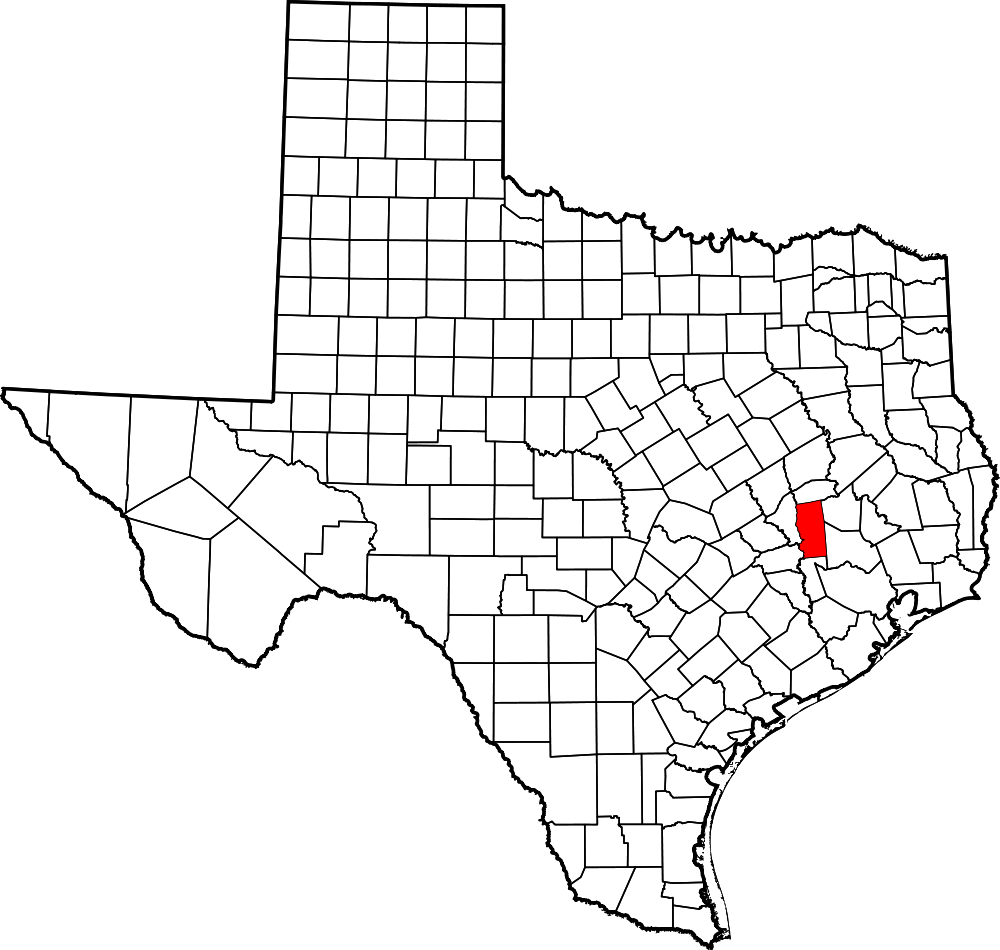 grimes county Grimes county map courtesy of the texas almanac image available on the  internet and included in accordance with title 17 usc section.